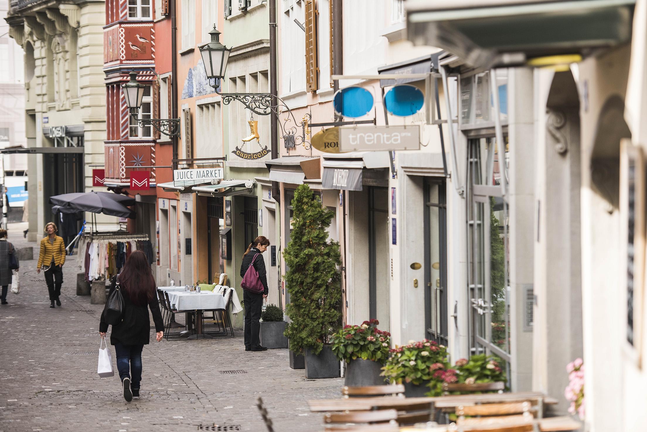 Shopping in Zurich downtown